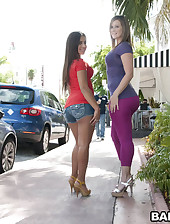 These 2 broads have huge rump for..