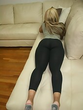 Massive Darksome Ebon Ass in Yogapants !