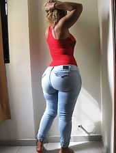 Large bum girls in jeans