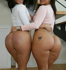 Nice-looking girls with moist asses