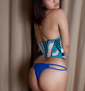 Sexy oriental constricted butt and tight butt babes