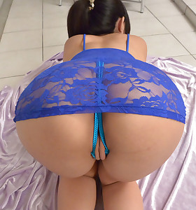 Sexy oriental tight butt and big ass babes