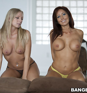 Tara Holiday who is a thick wazoo MILF and blonde bombshell named Britney Brooks