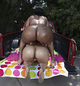 Nothing more good to satisfy the Huge ASS Longing than Pinky and Cherokee. Those 2 marvelous asses go pound for pound fucking and sucking. Pinky and Cherokee with their chubby asses decided to go join